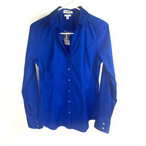 Express Essential Button Down Blue Small